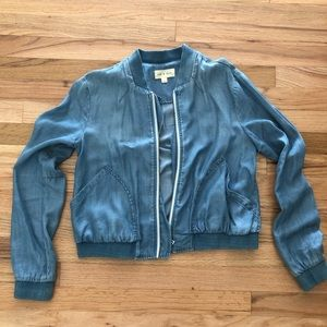 Anthropologie Chambray Bomber